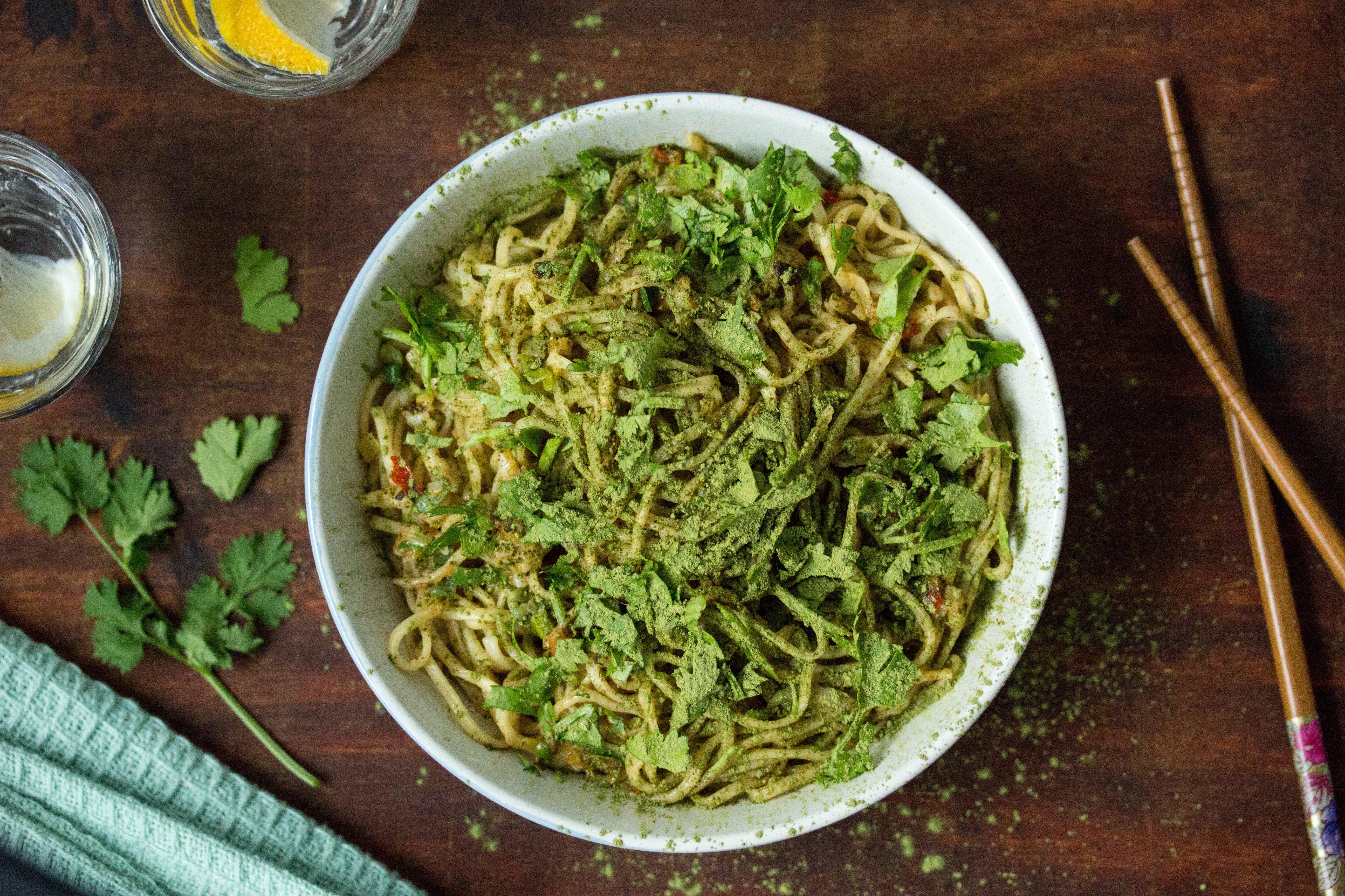 Matcha Noodles Nudeln Grüner Tee